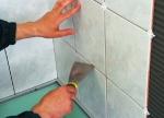 Облицовка ванной кафелем (подготовка)